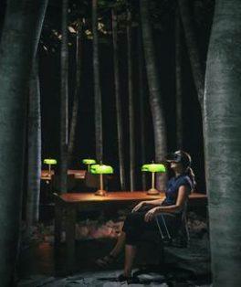 Biblioteca à noite Sesc RJ