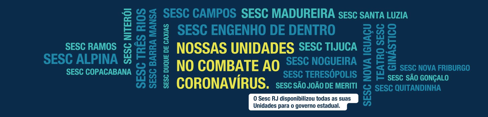Sesc RJ cede suas unidades ao Governo do Estado para o combate ao novo coronavírus