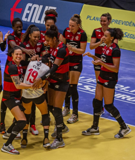 Sesc RJ Flamengo vence o Brasília Vôlei de virada na estreia da Superliga - Paula Reis/CRF
