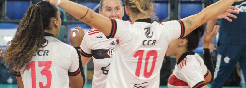 Sesc RJ Flamengo fecha 2020 com vitória na Superliga feminina de vôlei