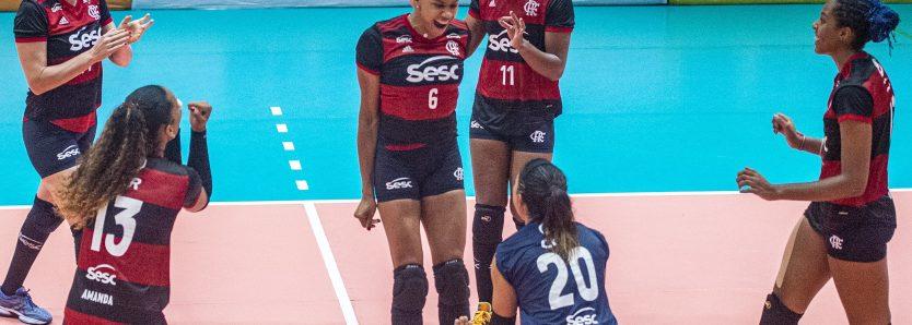 Sesc RJ Flamengo faz grande partida e vence o Dentil Praia Clube pela Superliga feminina de vôlei